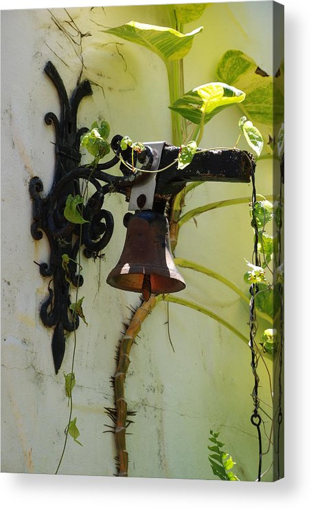 Architecture Acrylic Print featuring the photograph Miami Monastery Bell by Rob Hans