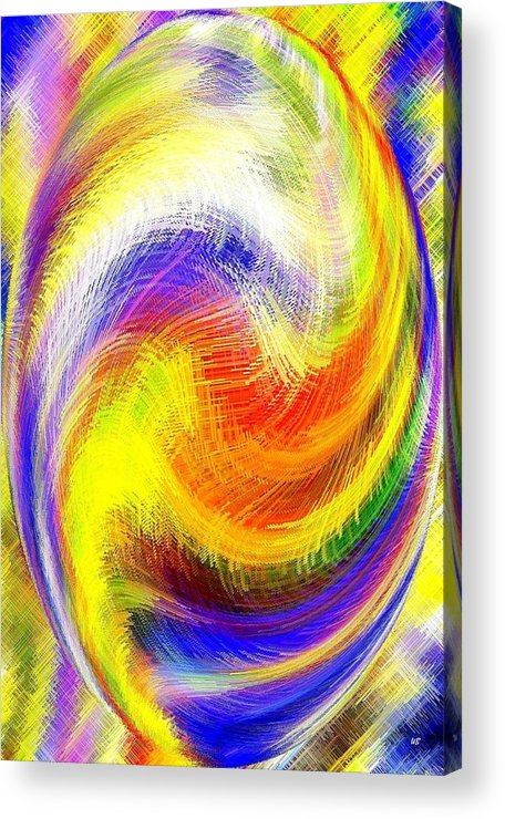Micro Linear Acrylic Print featuring the digital art Micro Linear 13 by Will Borden