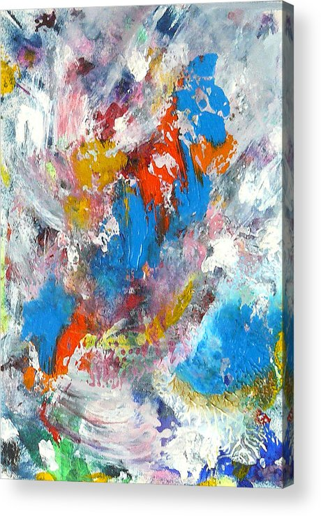 Abstract Acrylic Print featuring the painting Monte Carlofireworks 2 by Greg Gierlowski