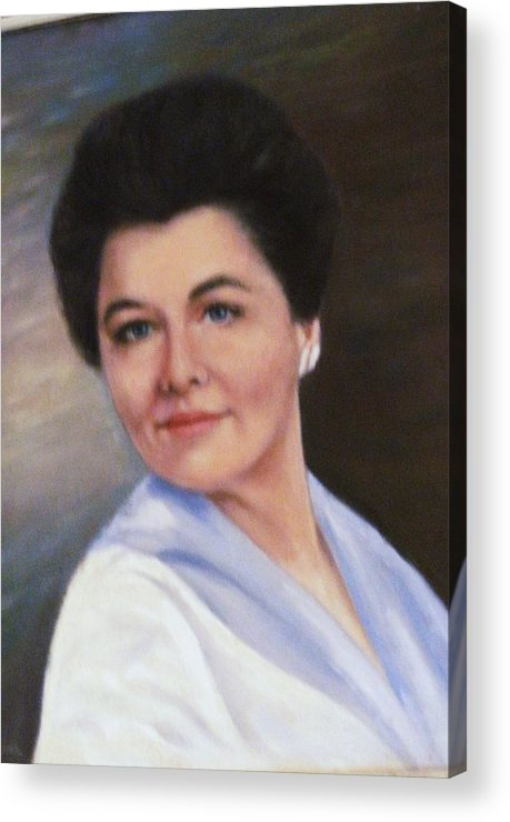 Mother Acrylic Print featuring the painting My Beautiful Mother by Anne-Elizabeth Whiteway