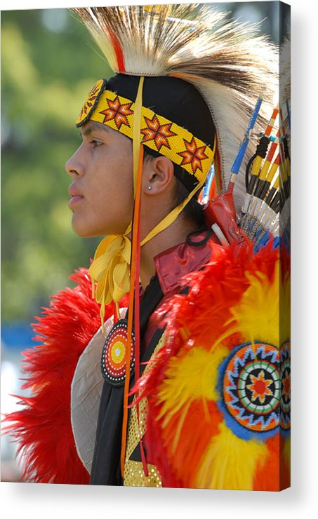 Indian Acrylic Print featuring the photograph Native Indian by Dennis Hammer