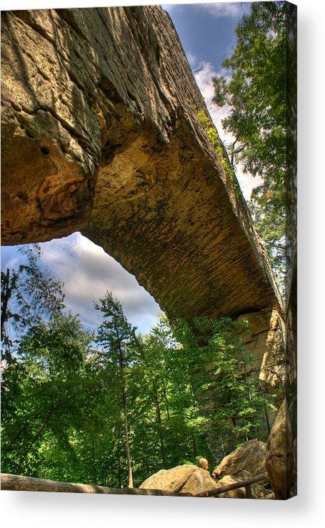 Natural Acrylic Print featuring the photograph Natural Bridge Span by Douglas Barnett