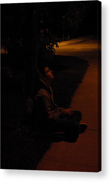Night Acrylic Print featuring the photograph Night Boy by Cindy Johnston