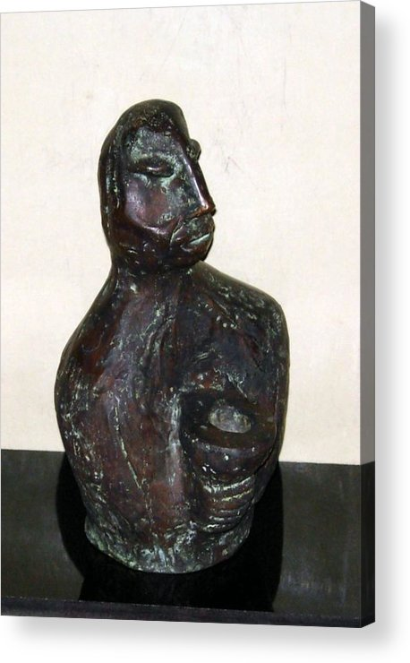 Male Torso Acrylic Print featuring the sculpture No. 245 by Vijayan Kannampilly