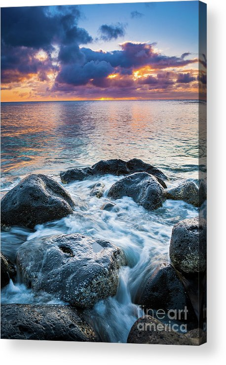 America Acrylic Print featuring the photograph Oahu Shoreline by Inge Johnsson
