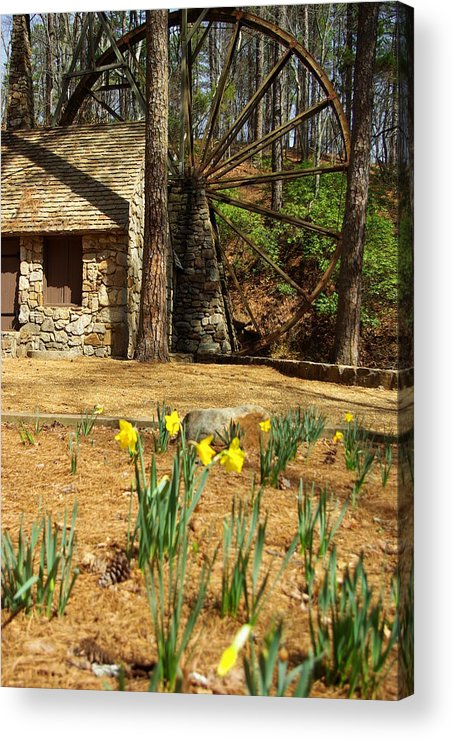 Mill Acrylic Print featuring the photograph Old Mill At Berry College by Rebecca McAllister