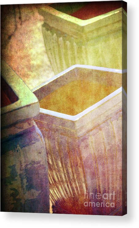 Pottery Acrylic Print featuring the photograph Pastel Pottery by Susanne Van Hulst