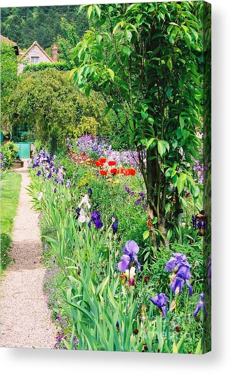 Claude Monet Acrylic Print featuring the photograph Path To Monet's House by Nadine Rippelmeyer