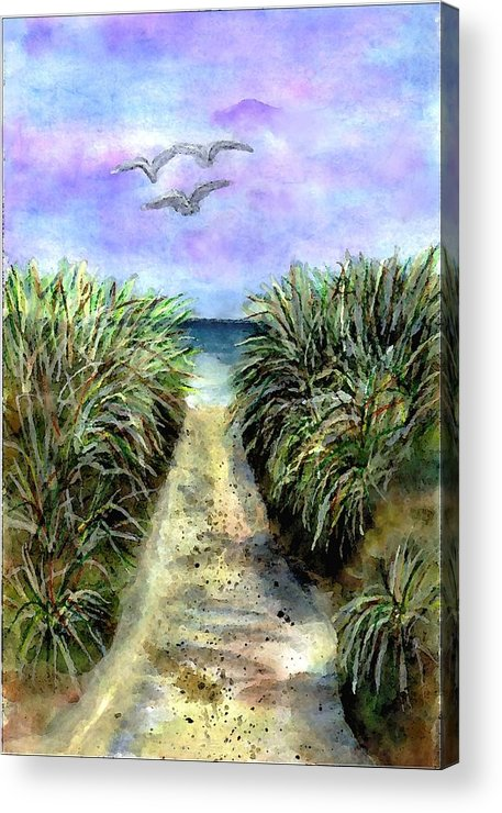 Beach Acrylic Print featuring the painting Pathway To The Shore by Dina Sierra