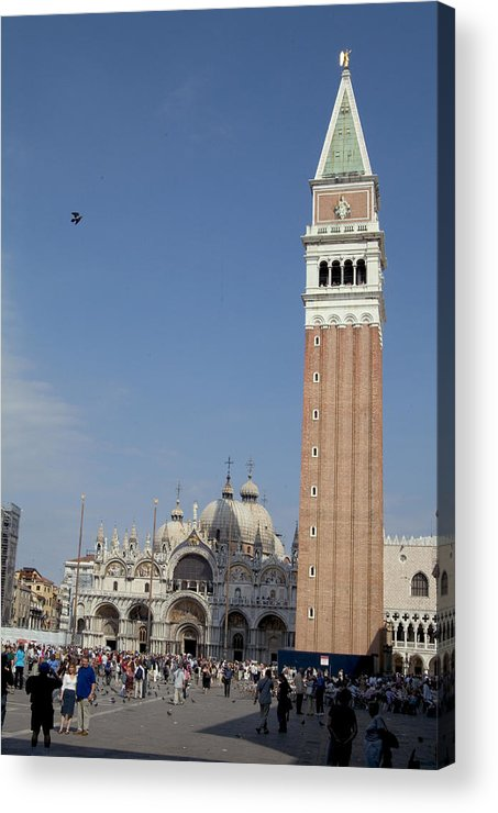Plaza Acrylic Print featuring the photograph Piazza San Marco by Charles Ridgway