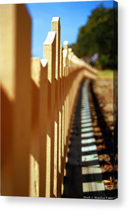 Fence Acrylic Print featuring the photograph Picket Fence by Nicole I Hamilton