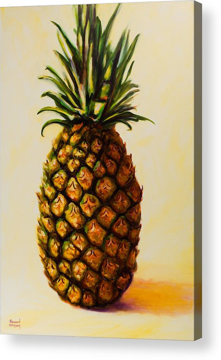 Pineapple Acrylic Print featuring the painting Pineapple Angel by Shannon Grissom