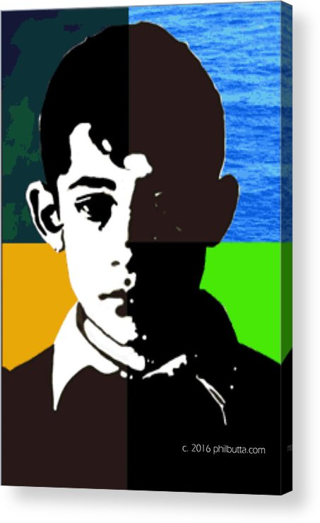 Rescue Acrylic Print featuring the painting Poor Boy by Philip Butta