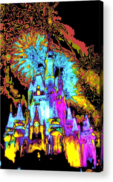 Cincerella Caste. Acrylic Print featuring the digital art Popart Castle by Charles Ridgway