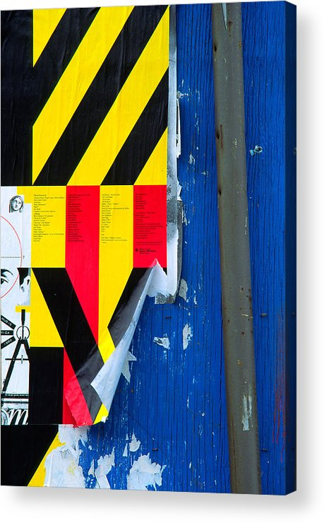 Color Acrylic Print featuring the photograph Primaries by Art Ferrier