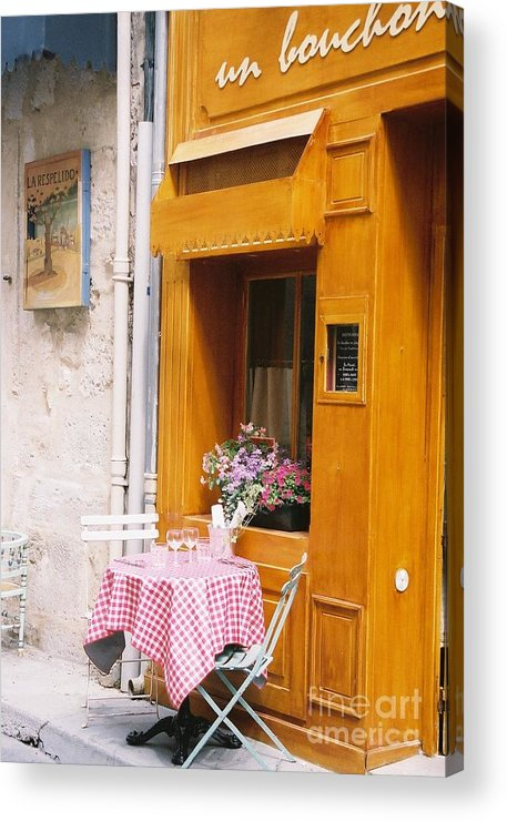 Cafe Acrylic Print featuring the photograph Provence Cafe by Nadine Rippelmeyer