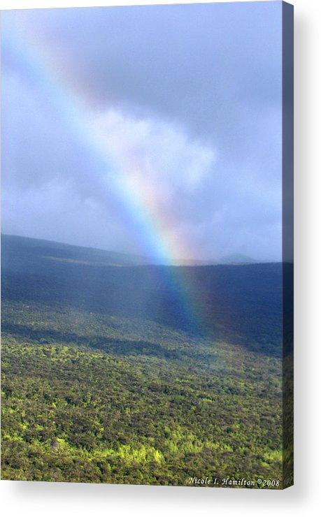 Rainbow Acrylic Print featuring the photograph Rainbow by Nicole I Hamilton