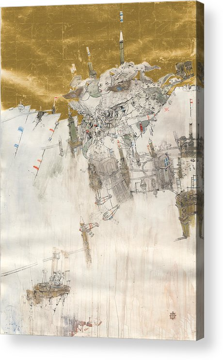 Towers Acrylic Print featuring the painting Rapture I by Konstantinos Papamichalopoulos