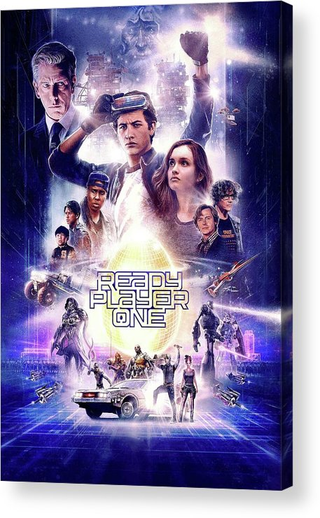Ready Player One Acrylic Print featuring the digital art Ready Player One by Geek N Rock