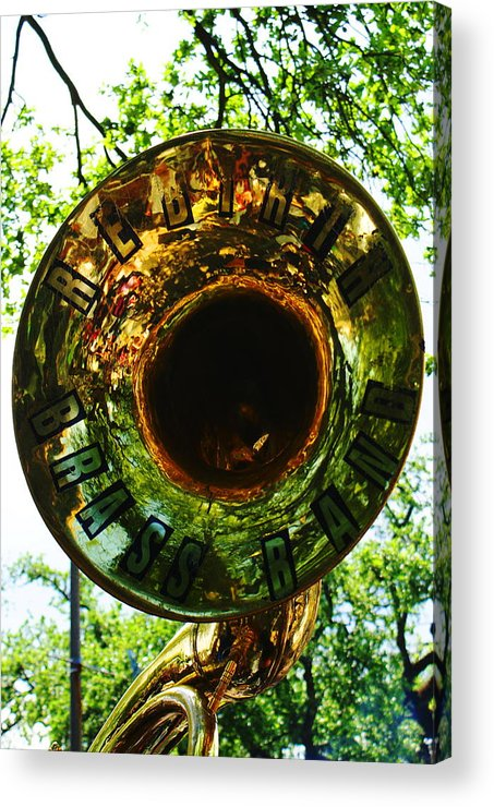 Brass Band Acrylic Print featuring the photograph Rebirth Solo by David Fields