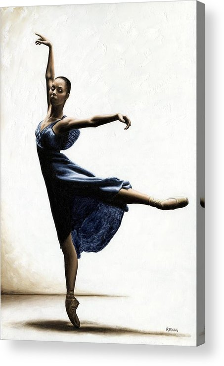 Dancer Acrylic Print featuring the painting Refined Grace by Richard Young