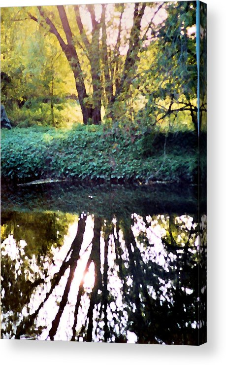 Landscape Acrylic Print featuring the photograph Reflections At Wyeth by Ellen Lerner ODonnell