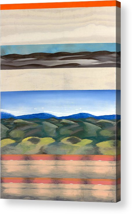 Landscape Acrylic Print featuring the painting Rhythm In Landscape by Kim Nelson
