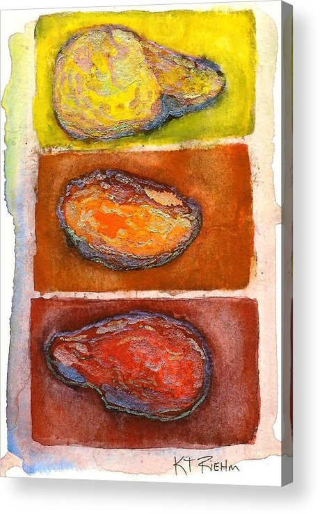 Rocks Acrylic Print featuring the painting Rocks Number 3 by Karen Riehm