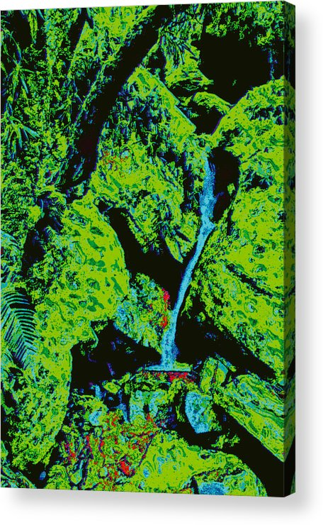 Acrylic Print featuring the digital art Rocky Support D5b by Modified Image