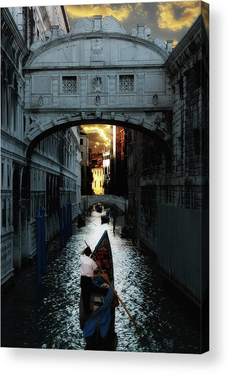 Venice Acrylic Print featuring the photograph Romantic Venice by Harry Spitz