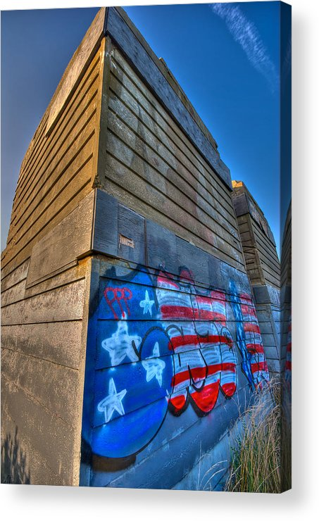 Montauk Acrylic Print featuring the photograph Ruins Graffiti by Mike Horvath