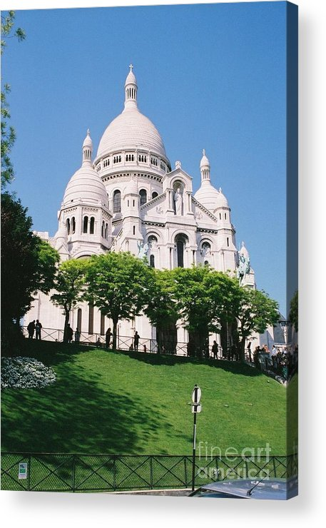 Church Acrylic Print featuring the photograph Sacre Coeur by Nadine Rippelmeyer