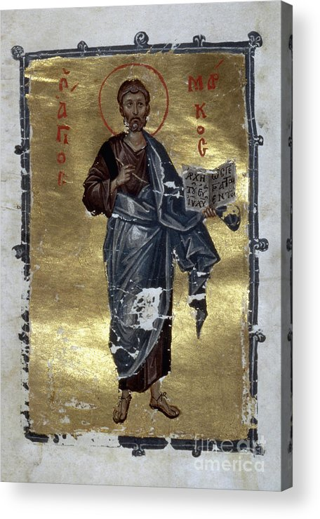13th Century Acrylic Print featuring the painting Saint Mark by Granger