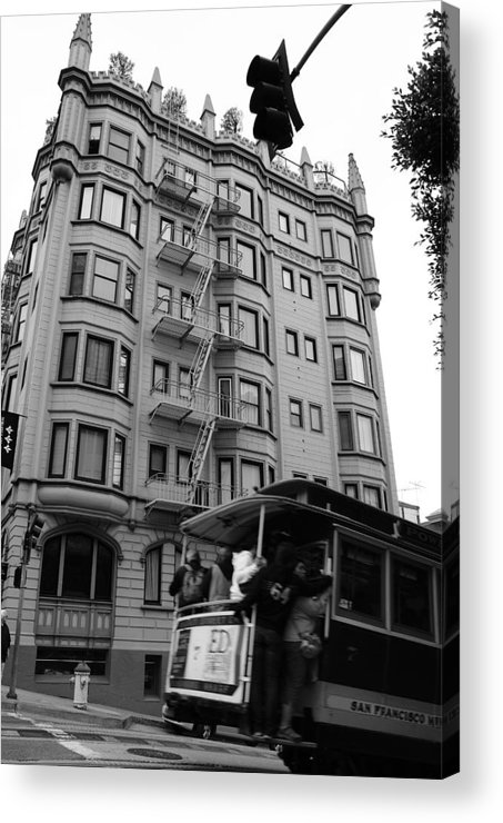 Building Acrylic Print featuring the photograph San Fran Trolley by Brian Anderson