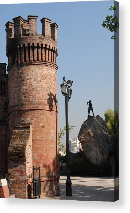 Red Castle Acrylic Print featuring the photograph Santiago by Charles Ridgway