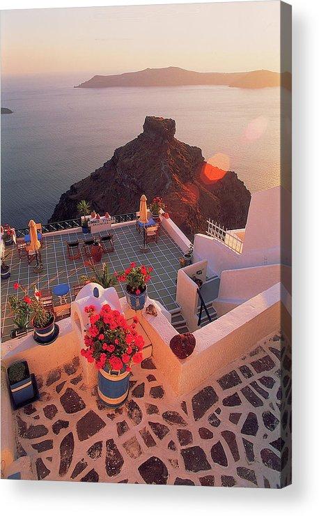 Santorini Acrylic Print featuring the photograph Santorini 016 by Manolis Tsantakis