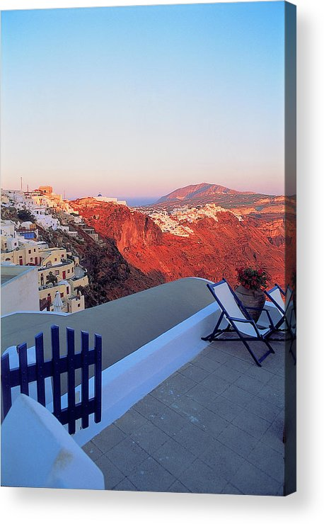 Santorini Acrylic Print featuring the photograph Santorini 019 by Manolis Tsantakis