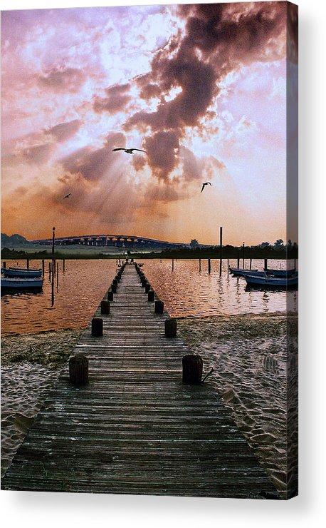 Seascape Acrylic Print featuring the photograph Seaside by Steve Karol