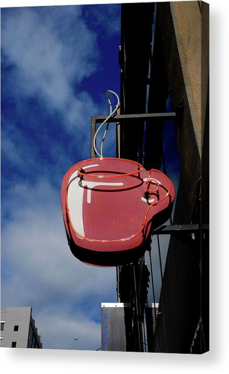 Coffe Acrylic Print featuring the photograph Seattle Hot Coffe by Craig Perry-Ollila