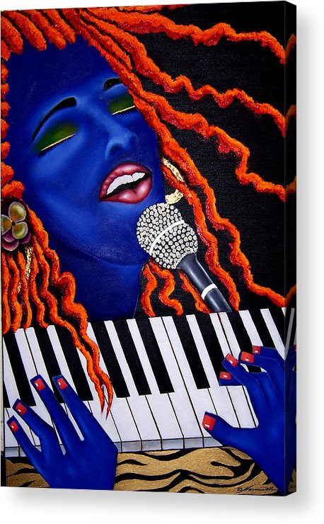 Portrait Acrylic Print featuring the painting She's Magic by Nannette Harris