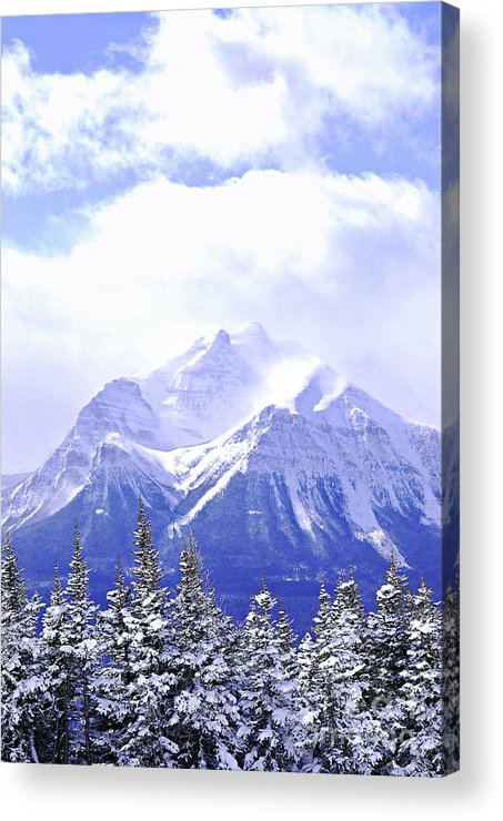 Mountain Acrylic Print featuring the photograph Snowy Mountain by Elena Elisseeva