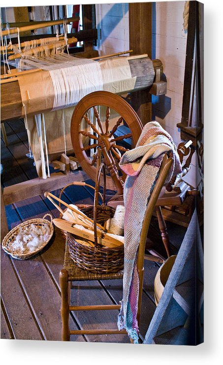 Spinning Acrylic Print featuring the photograph Spinning And Weaving by Douglas Barnett
