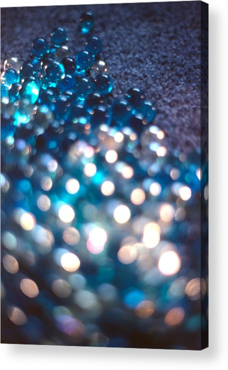 Marbles Acrylic Print featuring the photograph Spotlighted Marble Abstract 4 by Steve Ohlsen