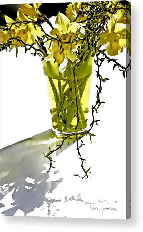 Spring Acrylic Print featuring the painting Spring Bouquet by Barb Pearson