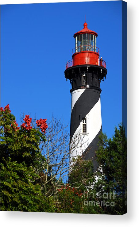 Lighthouse Acrylic Print featuring the photograph St. Augustine Lighthouse by Georgia Nick