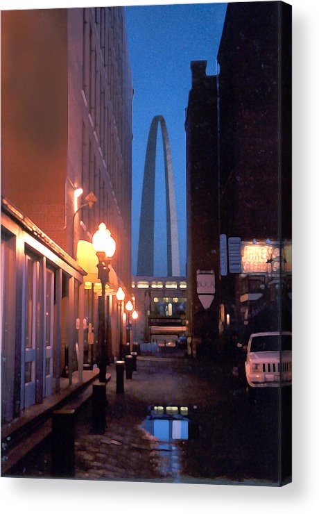 St. Louis Acrylic Print featuring the photograph St. Louis Arch by Steve Karol