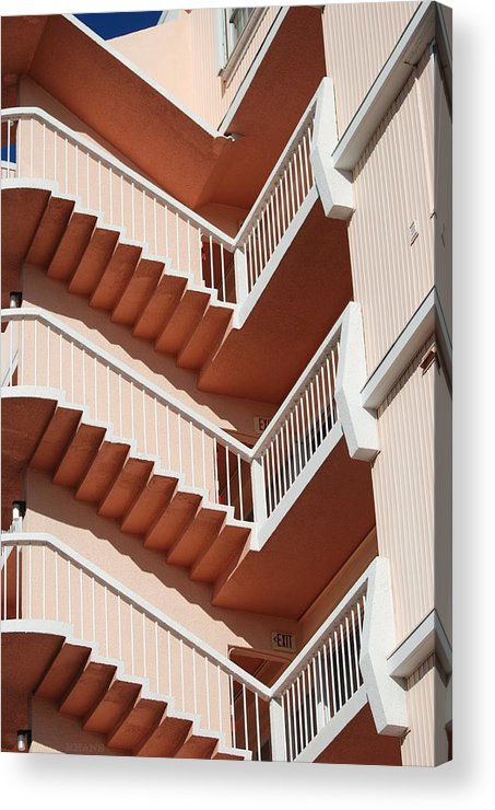 Architecture Acrylic Print featuring the photograph Stairs And Rails by Rob Hans