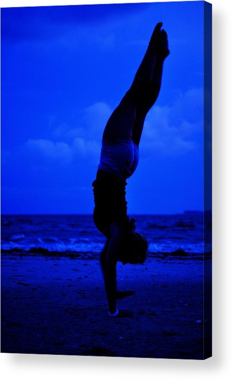 Seas Acrylic Print featuring the photograph Stand By The Sea by Trudi Southerland