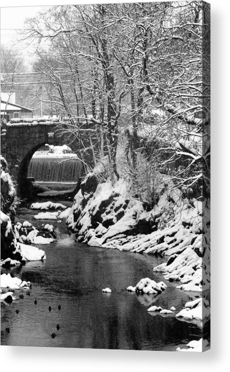 Water Acrylic Print featuring the photograph Stone-bridge by John Scates