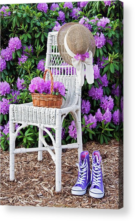 Rhododendron Acrylic Print featuring the photograph Summer Garden by Maria Dryfhout